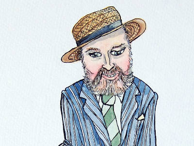 Portrait of the Irish scholar, Senator and gay rights activist David Norris.